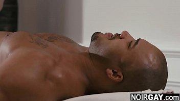 Horny Gay Masseur Gives His Black Customer A Free Handjob Big Black Cock Massage