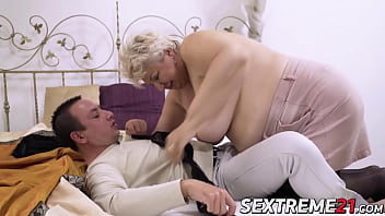 Phat granny bent over and pounded hard