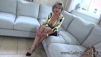 Jerk off instructions from a beautiful busty mature British babe