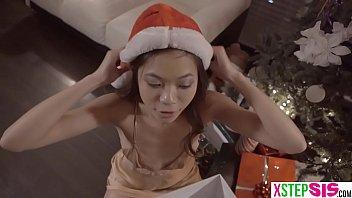 Petite asian stepsister rides on my big dick during xmas ◦ Filmed xmas Phone video Thumbnail