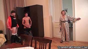 Robbery leads to old mature and boys teen orgy
