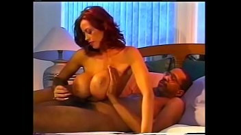 Redhead Donita with big boobs gets rough doggy style from big black dick