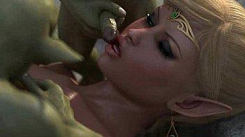 3D Elven Princess Gangbanged!