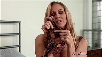 Blonde Milf Julia Ann teases you wearing her new lingerie and trying on some pantyhose. See the full video and meet Julia Ann live every week only for her members!