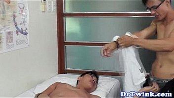 Gay doctor hand job