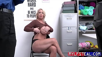 Busty Blonde MILF Caught Stealing And Punished