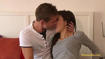 Brunette teen fucked by horny boyfriend