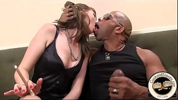 Huge black cock sucked by willing white slut