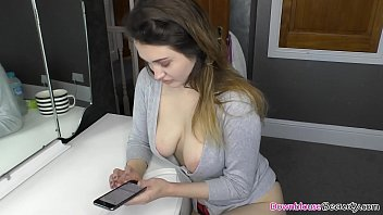 Sensual blonde babes with all natural boobs showing off their downblouse while doing random stuff, like reading magazines and such. Enjoy friends!