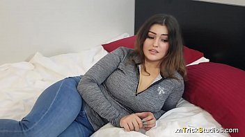 Massage and sex for chubby shy young woman