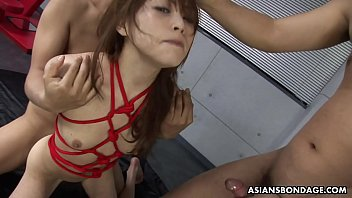 BDSM annihilation with three cocks that she loves