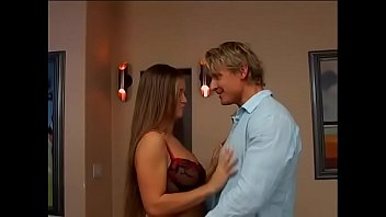 Sexy blonde in red stockings Rita Faltoyano gets her asshole boned by fat dick