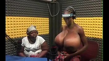 African woman with huge natural breasts