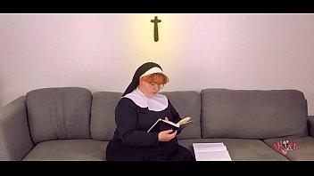 redhead nun fucks crucifix after bible study