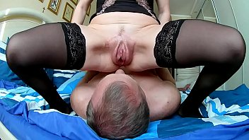 Licks wife's pumped up pussy
