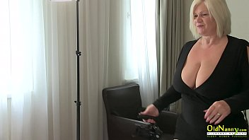 Two  busty horny blondes and lesbian old and young sex