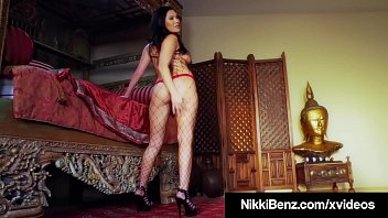 Lovely Asian London Keyes gets strapon fucked by busty penthouse pet, Nikki Benz, who fills her Oriental fuck friend's sweet pussy until they both orgasm! Full Video & Nikki Benz Live @ NikkiBenz.com! Thumbnail