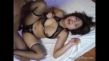 Horny Asian Couple Fucks While Females Boobs Bounce Mightily