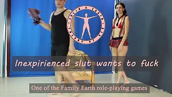 Julia V Earth plays inexperienced slut - seducing, blowjob, doggystyle, orgasm, riding, cum in mouth, cum swallow.