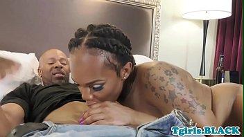 Beautiful Ebony TS Giving Great Head