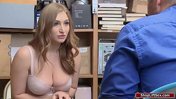 Busty costumer analed by the officer for stealing jewelry