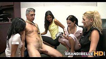 Secretaries Play With the Boss' Cock Brandi Belle