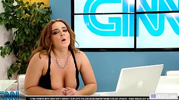 Busty lesbians making out in a tv studio Thumbnail