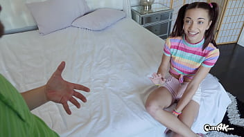 Cute Paisley Raw agrees to get training on how to take a creampie from her step-brother. Thumbnail