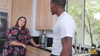 BLACK4K. Interracial action of insatiable white girl Valentine Nappi and black man