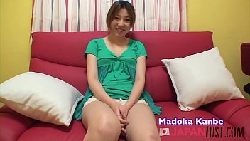 Hairy Japanese Teen with Natural Boobs