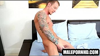 Hot hunks in tats beating off outdoor