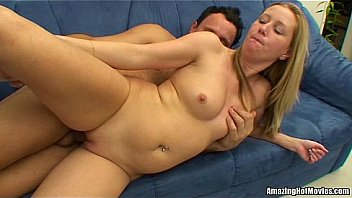 Milf get jizz after fucking on the couch