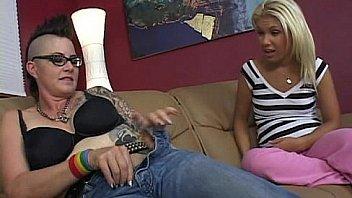 Teeny fucked by tattooed mom
