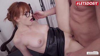 Watch LETSDOEIT - Stunning Redhead Secretary Anny Aurora Closes A Big Deal preview