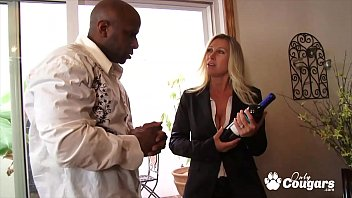 Busty MILF Devon Lee Takes A Black Dick For A Spin