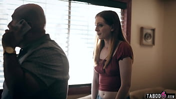Impregnated teen comforted by the father of her boyfriend