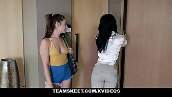 Dyked - Cute Babe (CassidyKlein) Rides A Lesbo MILF (KrystalRush) With Big Strap On