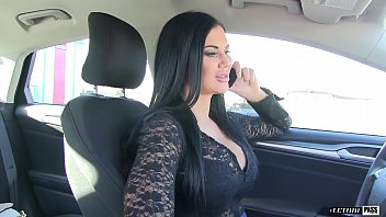 NAUGHTY German Sidney Dark cant wait to milk his cock in the car&excl
