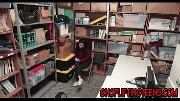 Watch Amateur teenage thief fucked on office desk and then_gets facialized preview