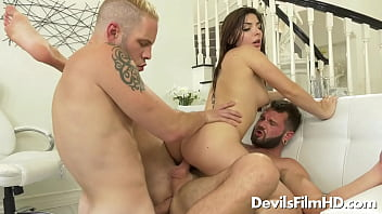 Two bisexual guys with one slut