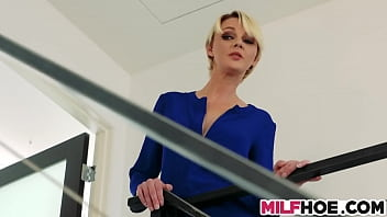 Hot blonde milf gets to fuck a hot guy