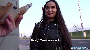 Public Agent Monica Brown facialised after public fuck