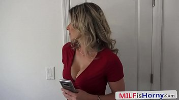 Hot & Horny MILF Gets On Her Knees For Her Step Son