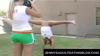Girl gymnastic nude oops