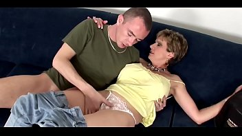 elegant milf from uk fucks the brains out of a young cock