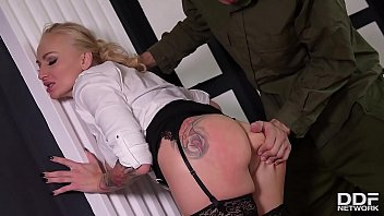Soldier gets to fuck busty Milf Kayla Green's juicy hole over and over again Thumbnail