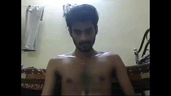 Cute webcam guy pleasing himself