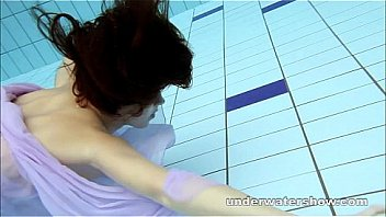 Watch Swimming nude in pool preview