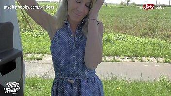 MyDirtyHobby - Blonde German MILF hitchhiker seduced by stranger