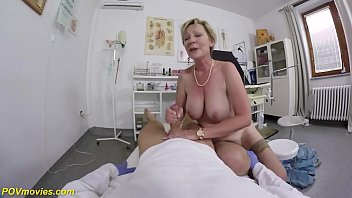 big boob hairy 71 years old granny in sexy stockings gets rough pov clinic fucked by her gynecologist